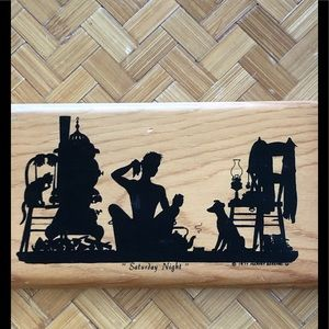"Wooden art piece ""Saturday Night"""